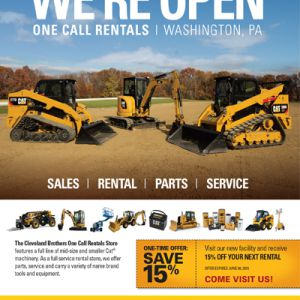 Cat One Call Rental Ad