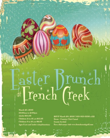 Easter Brunch at French Creek Golf Club